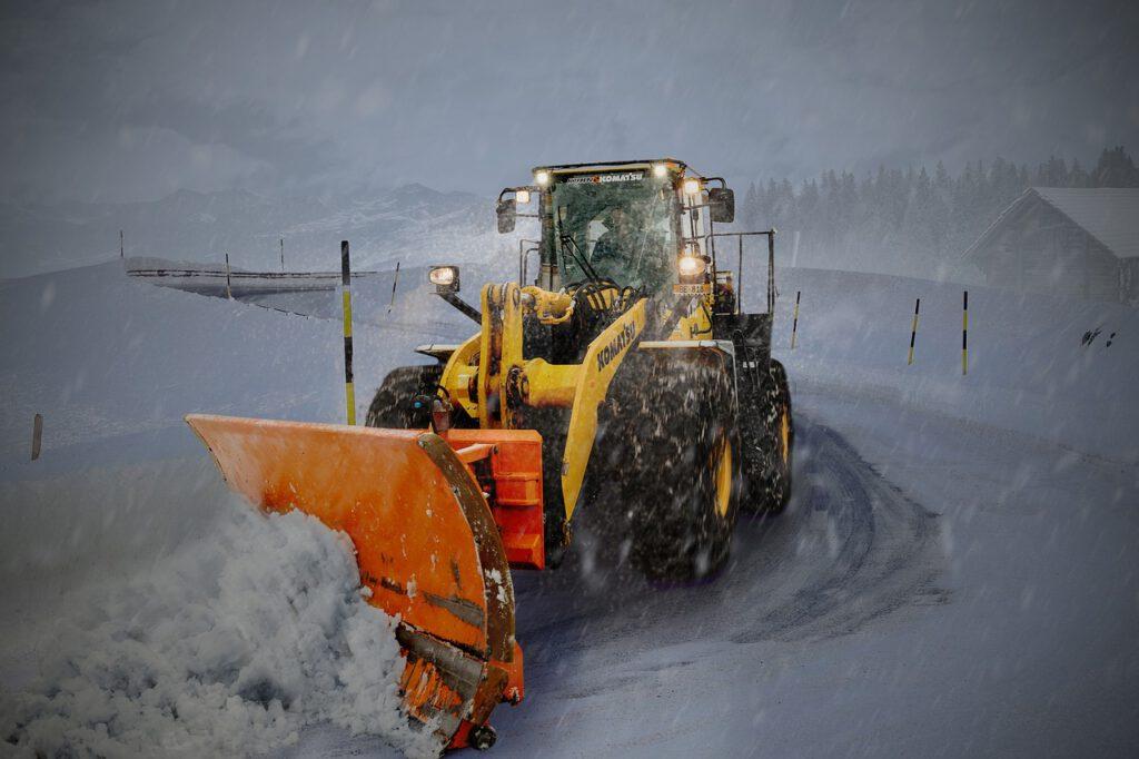 snow, winter, transport system